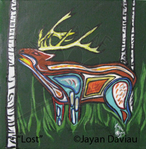 Lost - Father Elk Calling - SOLD